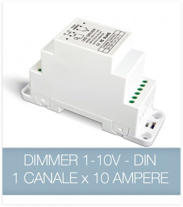 Dimmer 1-10v 10A - Dimmer strisce LED - DIN