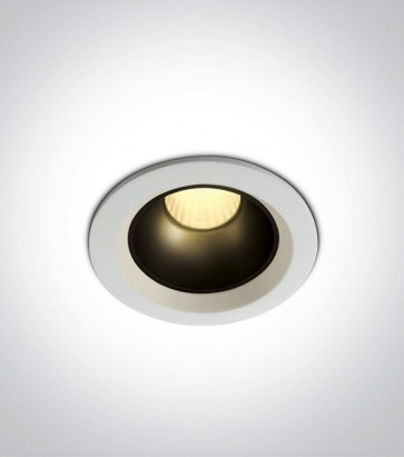 Faretto LED da Incasso recesso Bianco - 7W - Bianco Caldo 3000K - Personalizzabile