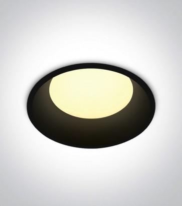 Faretto LED da Incasso recesso Nero - 9W - Bianco Caldo 3000K