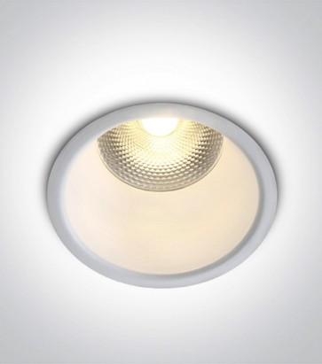 Faretto LED da Incasso recesso Bianco - 10W - Bianco Caldo 3000K