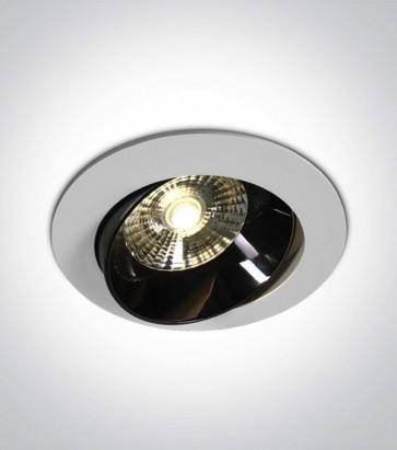 Faretto LED da Incasso recesso Orientabile - Bianco - 20W - Bianco Caldo 3000K