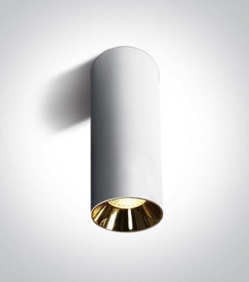 Faretto a Soffitto Linea Cilindro con attacco GU10 - Versione Large - Colore Bianco