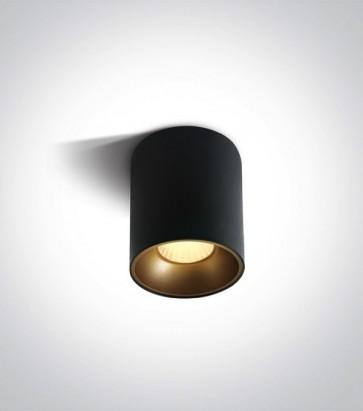 Faretto LED Tondo a soffitto - Nero - 12W - Bianco Caldo 3000K
