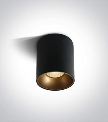 Faretto LED Tondo a soffitto - Nero - 20W - Bianco Caldo 3000K