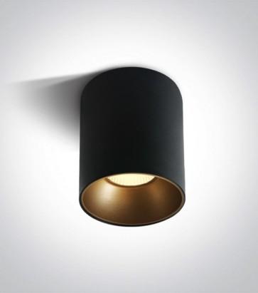 Faretto LED Tondo a soffitto - Nero - 30W - Bianco Caldo 3000K