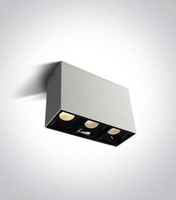 Faretto LED Quadrato a soffitto Triplo - 3x7W - Bianco Caldo 3000K