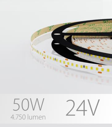 """Striscia LED 2216 """"PRO"""" - 24V - 5 Metri - 50W - SMD2216 280 LED/m - Bianco NATURALE - 4000K"""
