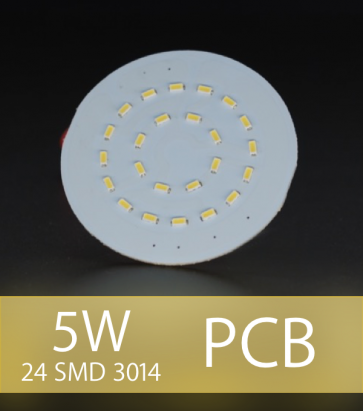 Scheda PCB 24 LED SMD 3014 - Bianco Caldo