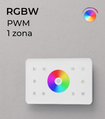 Controller RGBW Touch da Parete PWM 20 Amp - per strisce LED - Bianco o Nero