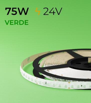"""Striscia LED 2835 """"PRO"""" - 5 Metri - 75W - SMD2835 VERDE 120 LED/m"""