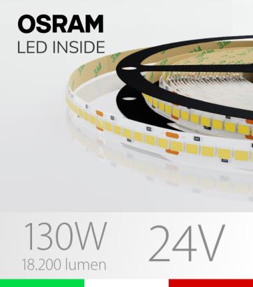 "Striscia LED ""PRO"" Osram - 5 Metri - 130W -  210 LED/m SMD2835 - Bianco NATURALE 4000K"