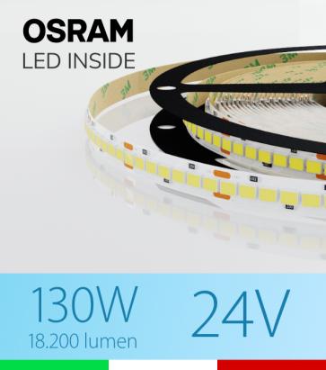"Striscia LED ""PRO"" Osram - 5 Metri - 130W -  210 LED/m SMD2835 - Bianco FREDDO 5000K"