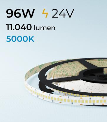 "Striscia LED 2835 ""ECO"" - 24V - 5 Metri - 96W - SMD2835 240LED/m - Bianco FREDDO - 5000K"
