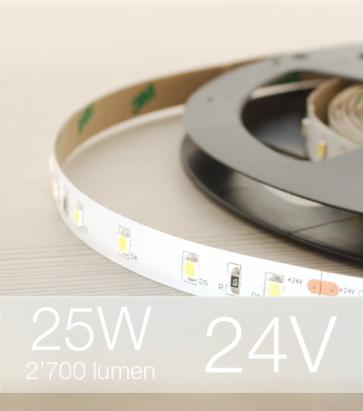 """SUPER OFFERTA: Striscia LED 2835 """"PRO"""" - 5 Metri - 5W/m - SMD2835 60 LED/m"""