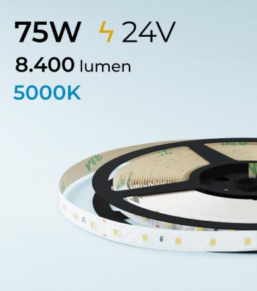 "SUPER OFFERTA: Striscia LED 2835 ""PRO"" - 5 Metri - 75W - SMD2835 BIANCO FREDDO 60 LED/m"
