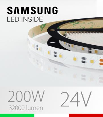 "Striscia LED 3030  ""ELITE"" - 5 Metri - 200W -  80 LED/m SMD3030 Samsung - Bianco NATURALE 4000K"
