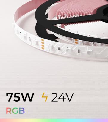 "Striscia LED RGB ""DYNAMIC RGB"" - 5 Metri - 75W - 60 LED/m SMD4040 Epistar"