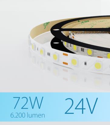 "SUPER OFFERTA: Striscia LED ""ECO"" - 5 Metri - 72W - 300 LED SMD 5050 BIANCO FREDDO"