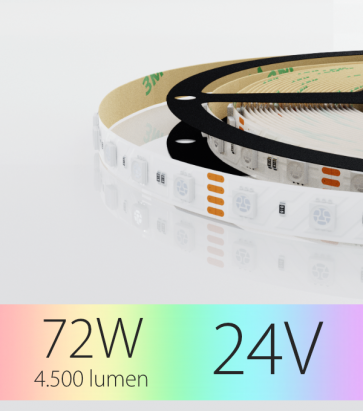 "Striscia LED ""ECO"" - 5 Metri - 72W - 300 LED SMD 5050 RGB"