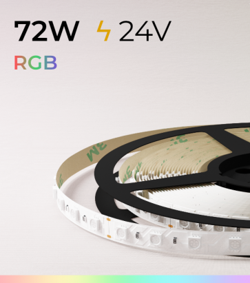 "Striscia LED ""ECO"" - 5 Metri - 72W - 300 LED SMD 5050 RGB"