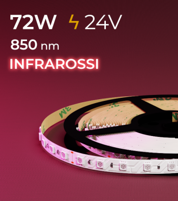 """Striscia LED """"PRO"""" - 5 Metri - 72W - INFRAROSSI - 850 nm"""