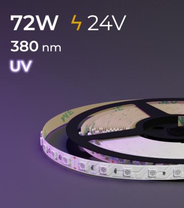 "Striscia LED ""PRO"" - 5 Metri - 72W - UV- 380 nm"