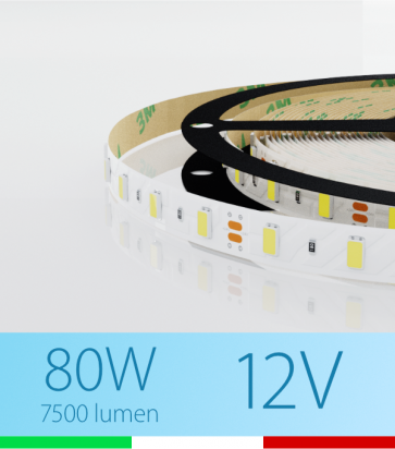 "SUPER OFFERTA: Striscia LED ""ECO"" - 5 Metri - 75W - 300 LED SMD5630 BIANCO FREDDO"