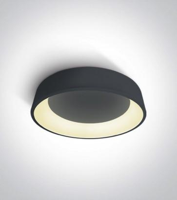 Plafoniera LED Tonda - Colore Antracite - 32W - Bianco Caldo
