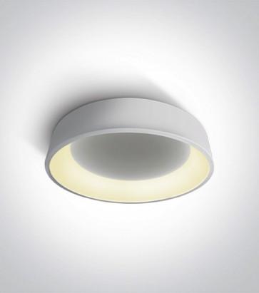 Plafoniera LED Tonda - Colore Bianco - 32W - Bianco Caldo