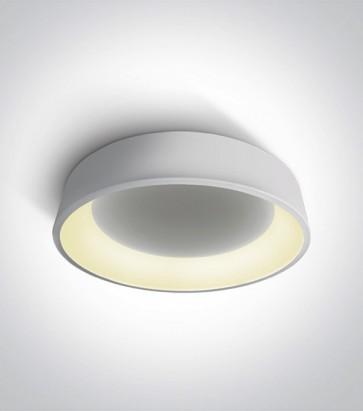 Plafoniera LED Tonda - Colore Bianco - 42W - Bianco Caldo