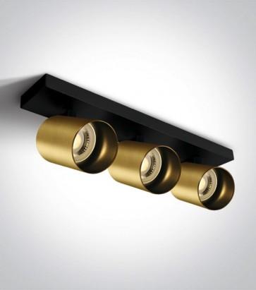Faretto Orientabile a Soffitto con Triplo attacco GU10 - Colore Bronzo