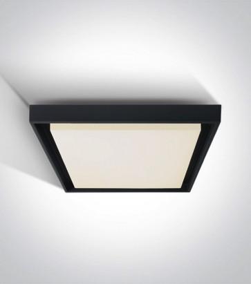 Plafoniera LED Quadrata per interno ed esterno - Colore Antracite - 30W - Bianco Caldo