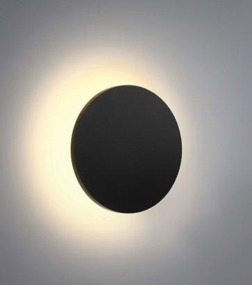 Lampada LED da esterno Linea Eclipse Tonda 7W - Antracite - Bianco Caldo - IP54
