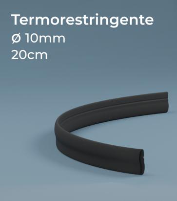Termorestringente nero 20 cm Ø10.0 mm per Strisce LED