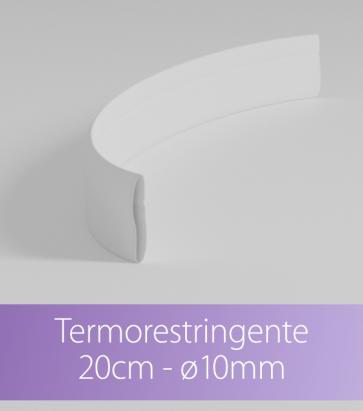 Termorestringente bianco 20 cm Ø10.0mm per Strisce LED con PCB 12mm