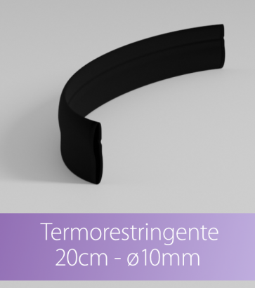 Termorestringente nero 20 cm Ø10.0 mm per Strisce LED