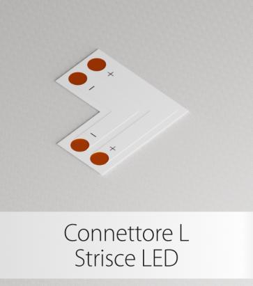 Connettore Angolare Strisce LED con clip in plastica