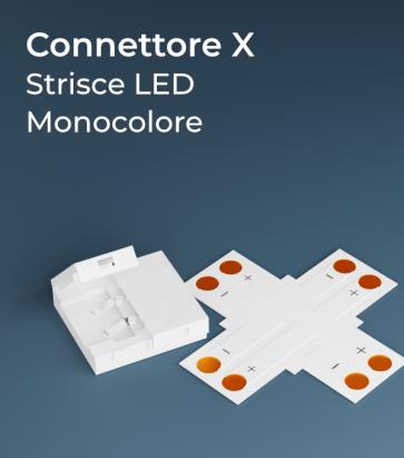 Connettore a X Strisce LED con Clip in plastica