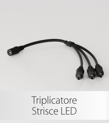Triplicatore Cavo Strisce LED - Connettori Femmina-Maschio