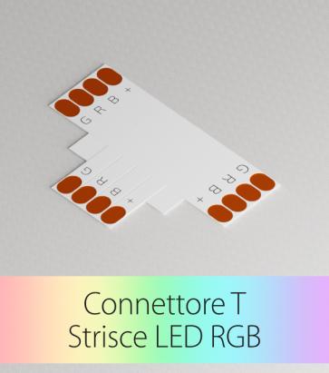 Connettore a T Strisce LED RGB con Clip in plastica