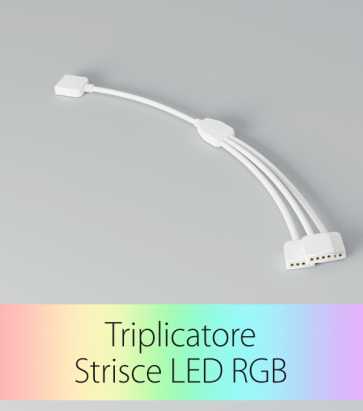 Triplicatore Cavo Rapido RGB - Connettori Femmina-Maschio