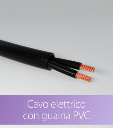 Cavo elettrico con Guaina PVC - Nero - 0.75x2