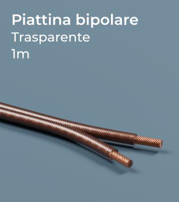 Cavo elettrico Piattina Bipolare al Metro - Trasparente