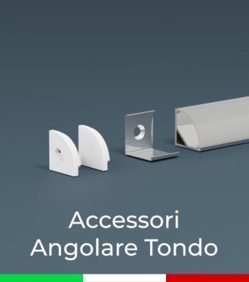 Accessori per Profilo in Alluminio Angolare Design Tondo