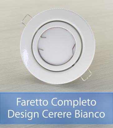 Faretto completo Bianco con PCB 11W - Design CERERE - Dimmerabile - Made In Italy