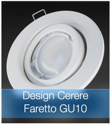 Corpo Faretto Bianco con Faretto LED GU10 5W - Design CERERE