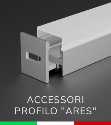 """Accessori per Profilo Piatto in Alluminio """"Ares"""""""