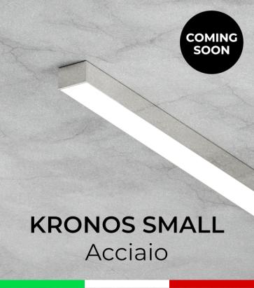 """Profilo in Alluminio """"Kronos Small"""" per Strisce LED - Acciao Lucido"""