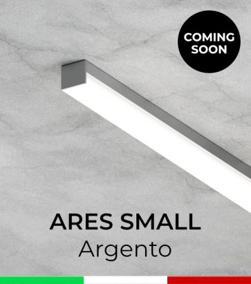 """Profilo in Alluminio """"Ares Small"""" per Strisce LED - Anodizzato Argento"""