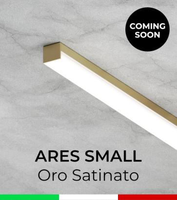 """Profilo in Alluminio """"Ares Small"""" per Strisce LED - Oro Satinato"""